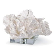Regina Andrew Home Flower Coral On Crystal Base - White
