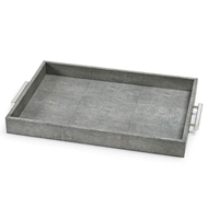 Regina Andrew Home Shagreen Rectangle Tray - Charcoal Grey