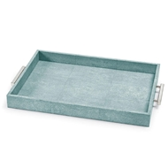 Regina Andrew Home Shagreen Rectangle Tray - Turquoise