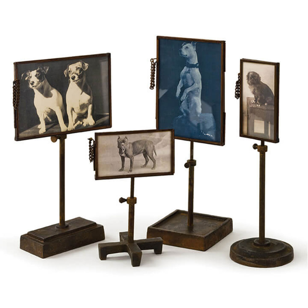 Regina Andrew Home Vintage Metal Photo Holders - Set of 4