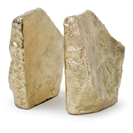 Regina Andrew Home Rock Bookends - Soft Gold