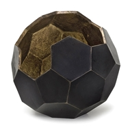 Regina Andrew Home Polyhedron Vase Small - Black & Antique Gold