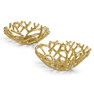 Regina Andrew Home Web Bowl Set of 2 - Gilded