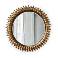 Regina Andrew Wall Decor Sun Flower Mirror Small - Antique Gold