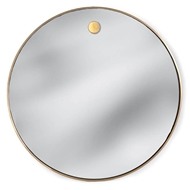Regina Andrew Wall Decor Hanging Circular Mirror - Natural Brass