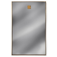 Regina Andrew Wall Decor Hanging Rectangle Mirror - Natural Brass