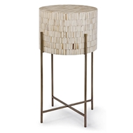 Regina Andrew Home Bone Drum Table - Antique Brass