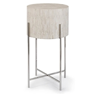 Regina Andrew Home Bone Drum Table - Polished Nickel