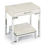 Regina Andrew Home Shagreen End Table - Ivory Grey
