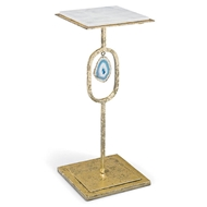 Regina Andrew Home Display Table - Gold Leaf & Teal Agate
