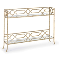 Regina Andrew Home Geometric Shelf Console Table
