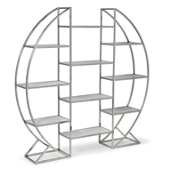 Regina Andrew Home Hoop Etagere - Polished Stainless Steel