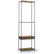 Regina Andrew Home Baxter Thin Etagere Blackened Iron