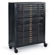 Regina Andrew Home Printmakers Jewelry Cabinet 8 Drawers