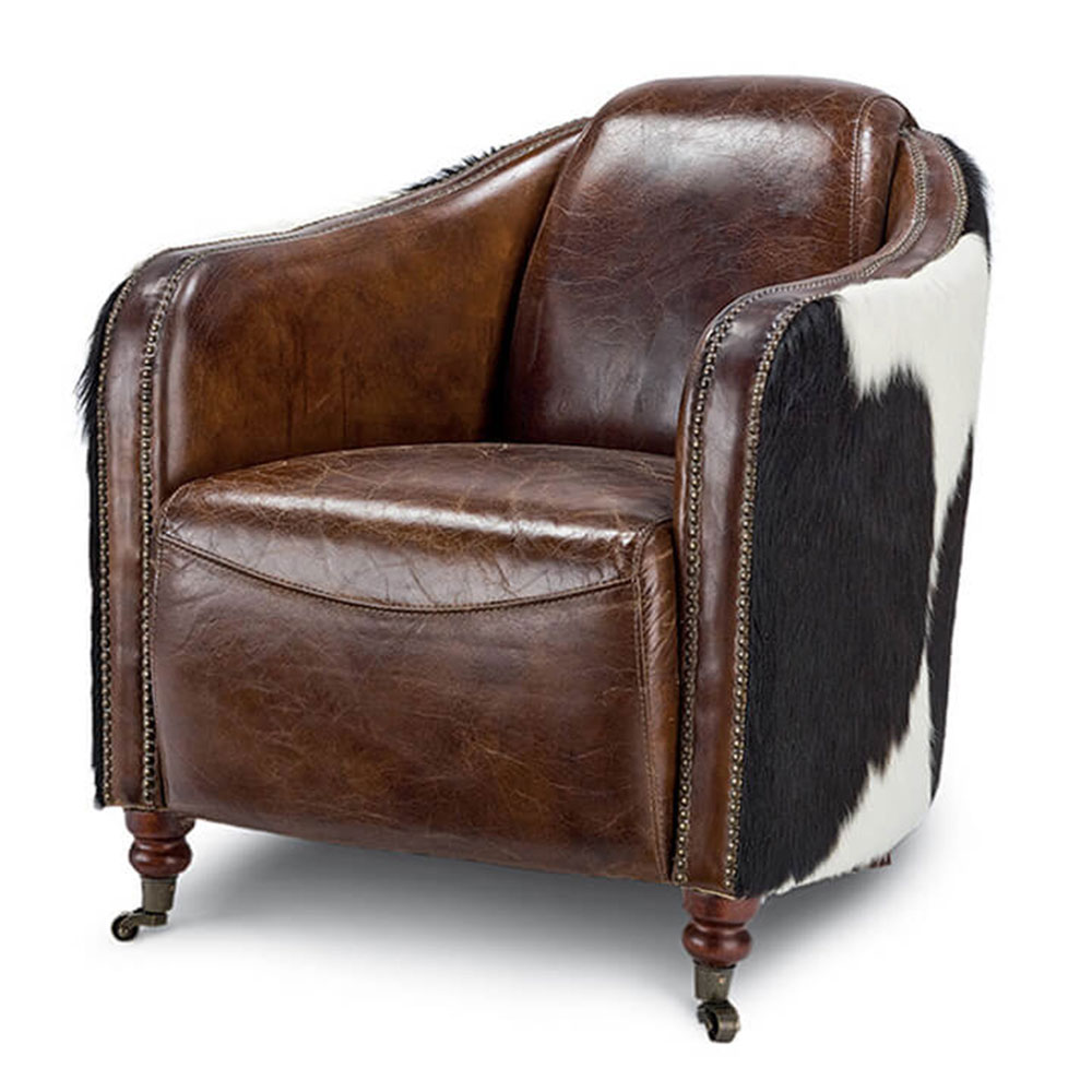 Regina Andrew Design Home Leather Club Chair Hair On Hide