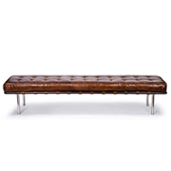 Regina Andrew Home Tufted Gallery Bench - Cigar