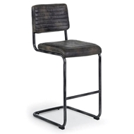Regina Andrew Home Dylan Bar Stool - Set of 2 - Ebony