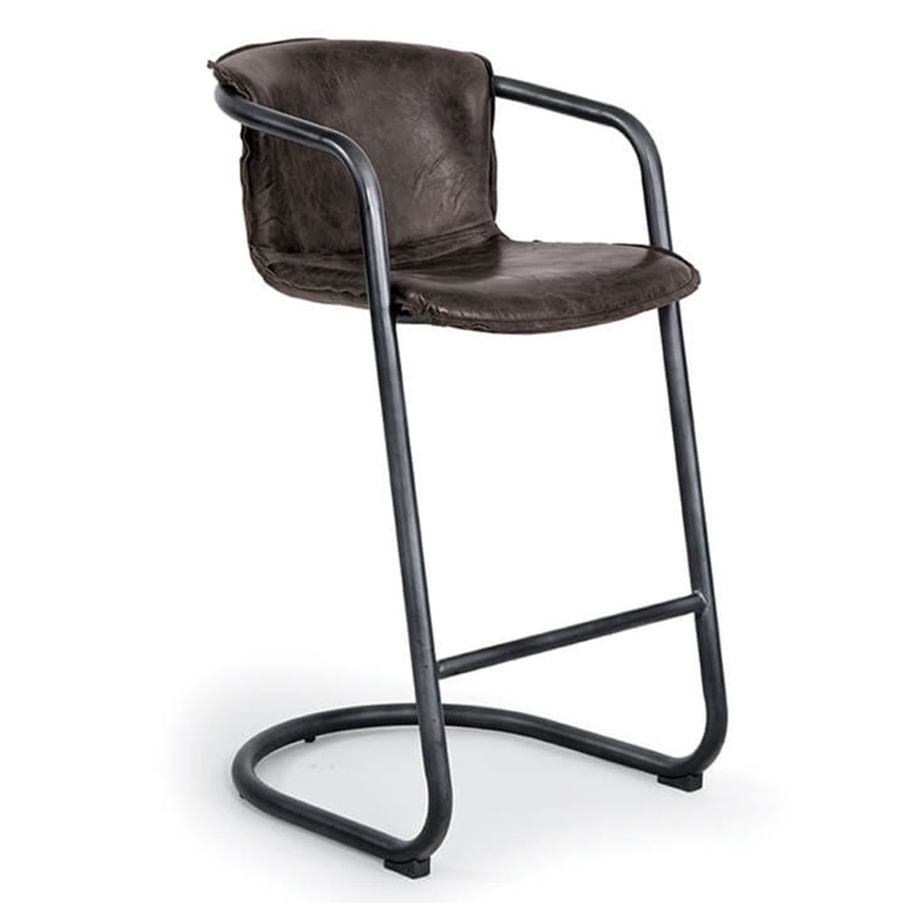 Regina Andrew Home Axl Bar Stool Set Of 2 Distressed Whiskey 32 1025