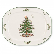 Spode Christmas Tree Sculpted Oval Platter 1536982