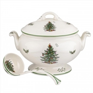 Spode Christmas Tree Footed Tureen & Ladle 1555822