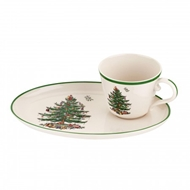 Spode Christmas Tree Soup & Sandwich Set 1577084