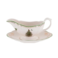 Spode Christmas Tree Sauce Boat & Stand 1577398