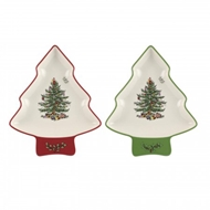 Spode Christmas Tree S/2 Tree-shaped Dishes 1579248