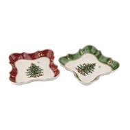 Spode Christmas Tree S/2 Vintage Devonia Dishes 1603660