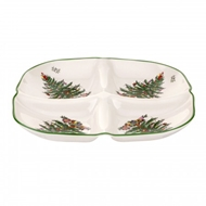 Spode Christmas Tree Sculpted 4-Section Tray 1612358
