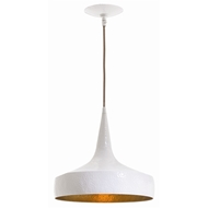 Arteriors Lighting Ziggy Wide Pendant With White Finish In White