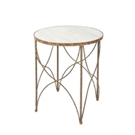 Aidan Gray Home Halmstad Side Table in Rustic Storm