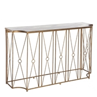 Aidan Gray Home Marlene Console Table with Antique Mirror