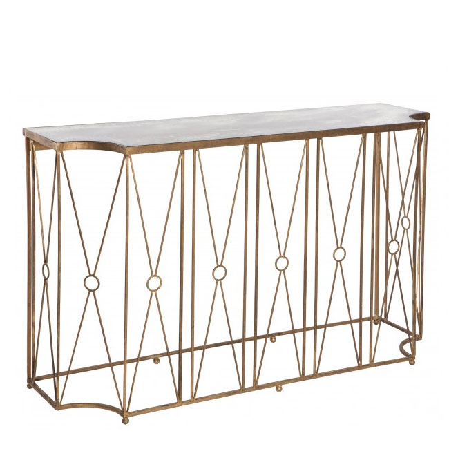 Aidan Gray Marlene Console Table With Antique Mirror