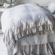 Bella Notte Linen Whisper Duvet Cover Quick Ship QSLWH12 - Blend