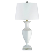 Currey and Company Timeless Table Lamp, White 6478