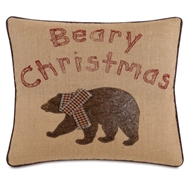 Eastern Accents Beary Christmas Pillow
