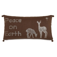 Eastern Accents Peaceful Silhouettes Pillow