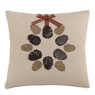 Eastern Accents Pinecone Wreath Pillow