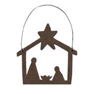 Nativity Ornament - Jeremie Primitive Holiday Ornament