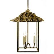 Lowcountry Originals Shell Top Tiki Lantern Chandelier