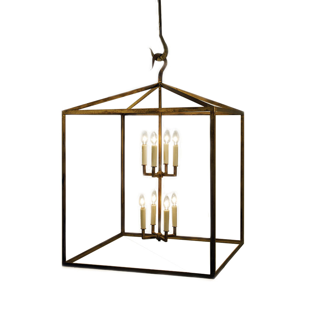 Box lantern chandelier made in usa lowcountry for Lowcountry lighting