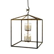 Lowcountry Originals Box Lantern Chandelier