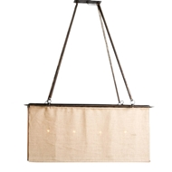 Lowcountry Originals Burlap Box Chandelier