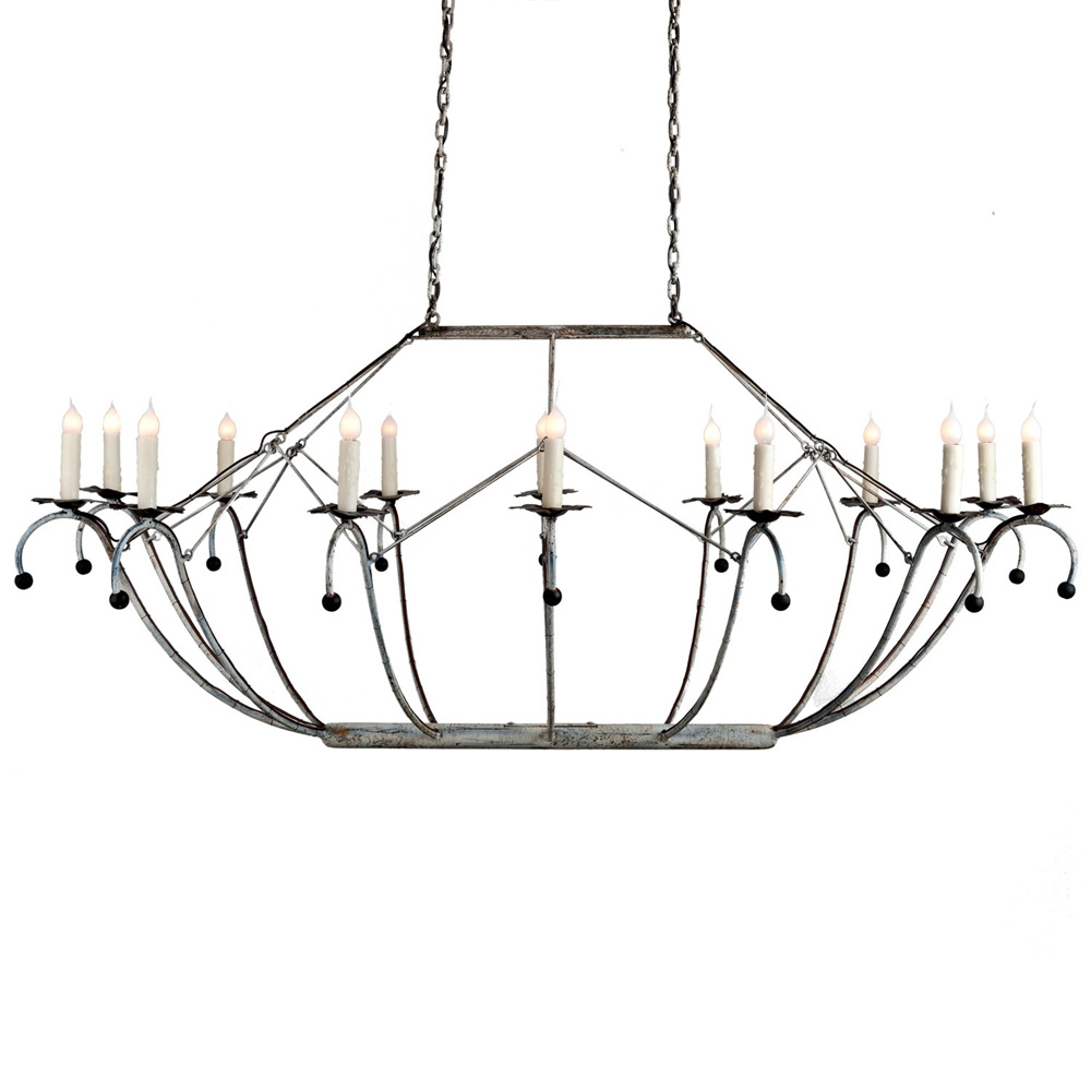 Oval White Basket Chandelier Made In Usa Lowcountry