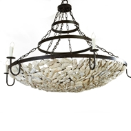 Lowcountry Originals Shell Bowl with Chain and Brands Chandelier