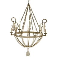 Lowcountry Originals Champagne Mist with Arms & Crystal Chandelier