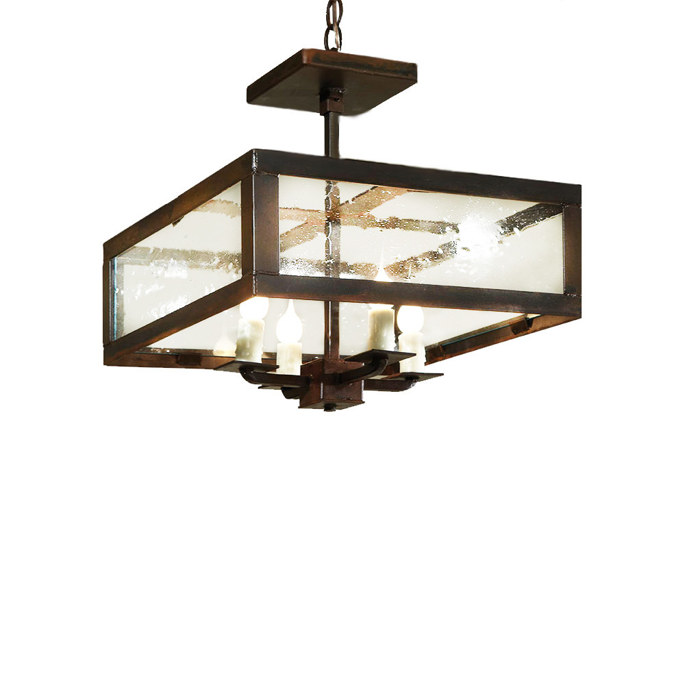 Semi flush calibogue chandelier made in usa lowcountry for Lowcountry lighting
