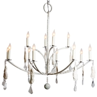 Lowcountry Originals Shell and Crystal Chandelier