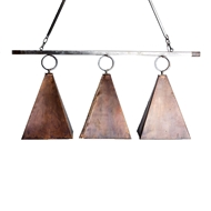 Lowcountry Originals Copper Pyramind Island Chandelier