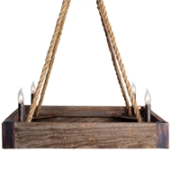 Lowcountry Originals Barnwood Square Chandelier